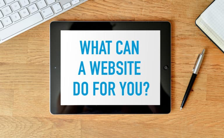 what can a website do for you?
