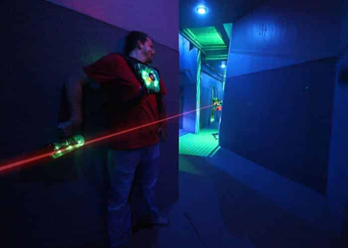 Man playing laser tag in Baton Rouge