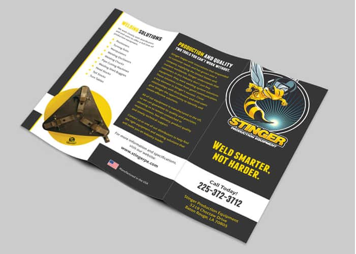 Black and yellow brochure design