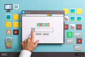Search bar that will bring up results based on SEO