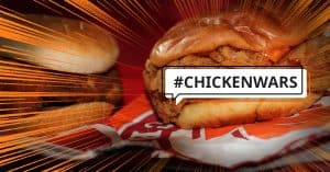 Popeyes Chicken Sandwich in chicken wars