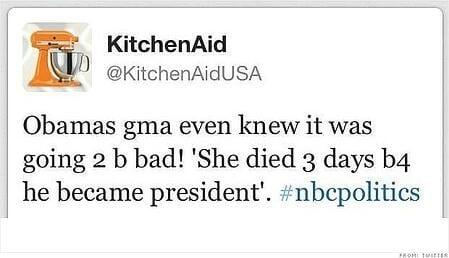 kitchen aid tweet
