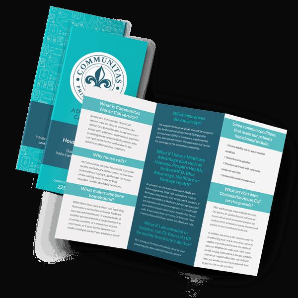 Blue medical brochure mockup